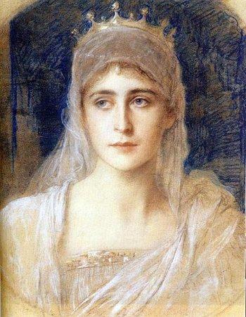 Великая княгиня Елизавета Федоровна, портрет художника Фридриха Августа фон Каульбаха