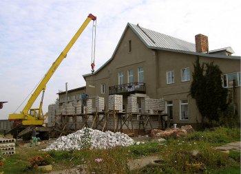 Строительство бассейна. Фото Т.В.Шустовой.