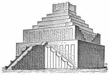 Зиккурат Этеменанки в Вавилоне более известный, как «Вавилонская башня» (реконструкция).