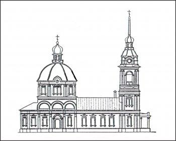 Храм в селе Парахине (до 1914 г.)