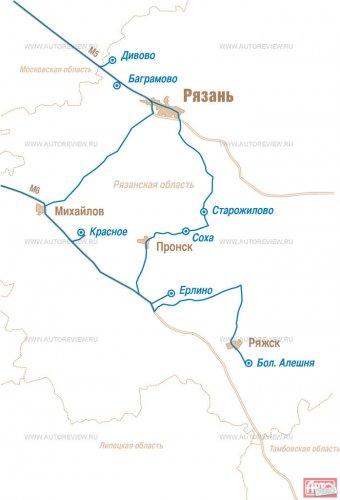 Рязанская область, карта  исторических конезаводов