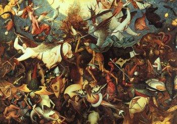 Война на небесах в представлении Питера Брейгеля-старшего.