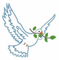 Голубя, несущего Ною оливковую ветвь, ныне мы используем в качестве невербального символа мира.