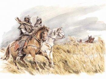 Хазарские всадники (рисунок современного художника).