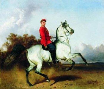 Лейб-гусар на коне. Сверчков Н.Е.