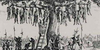 Ж. Калло, гравюра «Дерево повешенных» из серии «Большие ужасы войны».