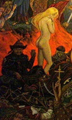 И. Глазунов на картине «Вечная Россия» визуализировал стереотипные представления о русско-татарских отношениях времён ига.