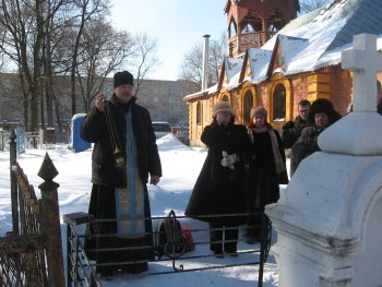 Панихида на могиле М.А.Виноградова