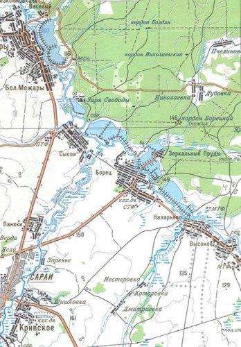 На карте показано расположение села Сысои и его улиц