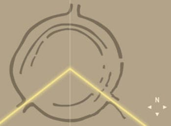 …а германский упрощённый аналог Стоунхенджа «Гозекский камень» – на точку восхода в день зимнего солнцестояния.
