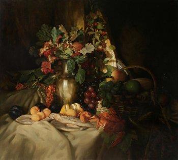 Картина Андрея Миронова. Завтрак с раками.