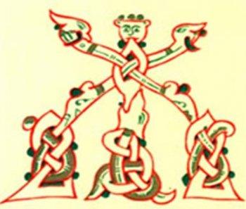 Кириллическая буква «Живете», символизирует ветви и корни Мирового дерева; точка, в которой пересекаются составляющие её прямые – это наш неказистый Мир.