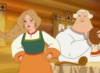 …а жена Добрыни Настасья, напротив, с одной девической косой!