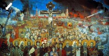 Именно Хара Березайти изображена на картине И.С. Глазунова «Вечная Россия».