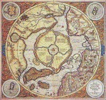 Герард Меркатор в районе Северного полюса помещает целый континент – это Арктида, Гиперборея, Туле или мистификация?