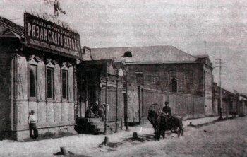 Завод селъкохозяйственных машин и железнодорожных принадлежностей. Первоначальное расположение—на улице Семинарской (неподалеку от храма Бориса и Глеба). Фотография 1916 года.