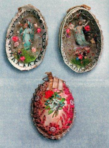 Пасхальное яйцо. Вид изнутри и снаружи. Конец XIX века.