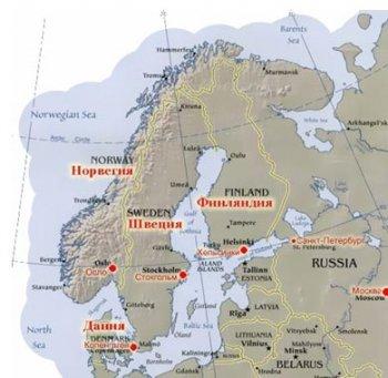 Санкт-Петербург и столицы скандинавских стран.