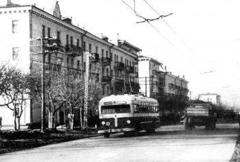 Первый троллейбус в Рязани, 1949 год.