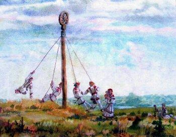 «солнечная карусель». С картины М. Преснякова.