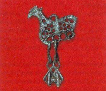 Височное украшение Железо, XI-XII века.