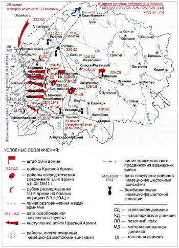 Военные действия в ходе Великой Отечественной войны на территории Рязанской области.