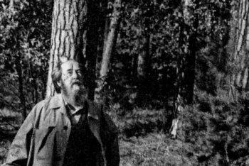 Александр Исаевич Солженицын в Солотче в 1994 г., после возвращения из изгнания. Фото Евгения Каширина, Рязанский 'Мемориал'