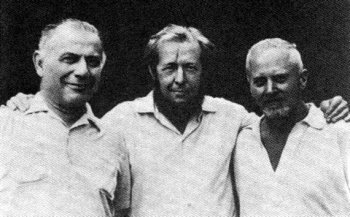 Лев Копелев, Александр Солженицын, Дмитрий Панин, около 1960 г.
