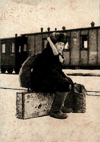'Во всем ссыльном. Прибытие в Рязань'. Зима 1956-1957 гг. Фото неизвестного автора. Из архива семьи А.И. Солженицына