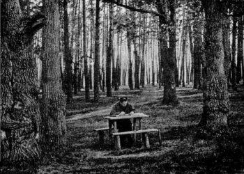 Излюбленное место работы Солженицына в пригороде Рязани - Солотче.