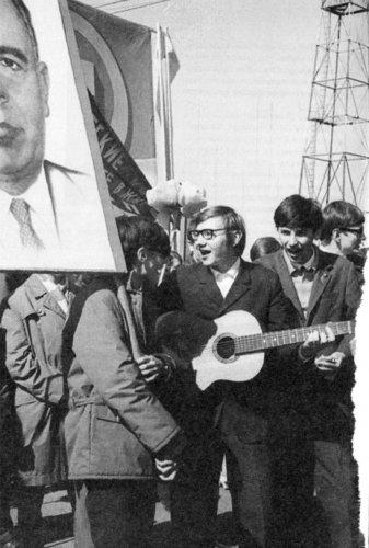 Студенты РРТИ, 1 мая 1971 г. Из архива Валерия Уханова