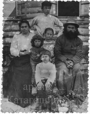 Семья Катагощиных с. Мураевня Данковского уезда, 1907г.