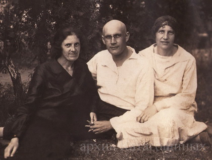 Б. И. Катагощин с сёстрами Любовью Ивановной и  Ниной Ивановной, 30-е годы
