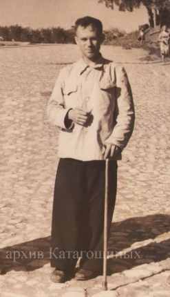 И. А. Журкин г. Михайлов Соборная гора, начало 50-х годов