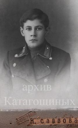 Б. И. Катагощин студент Рязанской духовной семинарии