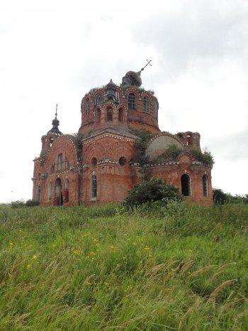 Найденный надгробный памятник в с. Богоявление Ермишинского района