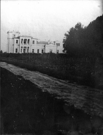 Село Костино. Главный дом усадьбы. Вид от села.