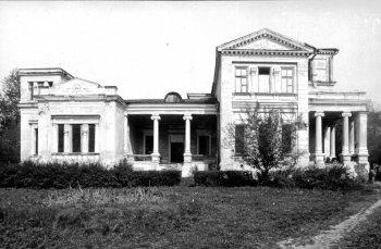 Село Костино. Главный дом усадьбы Никитинских. 1988 г.