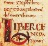 Обычай рисовать Христа в образе рыбки ведёт своё начало от греческой фразы «Иисус Христос Божий Сын Спаситель», заглавные буквы которой складываются в слово «IXθYΣ» (рыба). Инициал «L» в начале Евангелия от Матфея. Франция, VIII век.